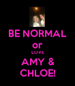 BE NORMAL or LOVE AMY & CHLOE! - Personalised Poster large