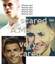 be scared A.Madrid be  very scared - Personalised Poster large