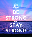 BE STRONG AND STAY STRONG - Personalised Poster large