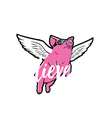 Believe in  flying pigs - Personalised Poster large