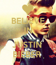 BELIEVE IN  JUSTIN  BIEBER  - Personalised Poster large