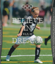 BELIEVE IN YOUR DREAMS  - Personalised Poster large