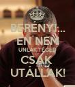 BERÉNYI... ÉN NEM UNLAK TÉGED CSAK  UTÁLLAK! - Personalised Poster large
