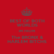 BEST OF BOTH WORLDS IM FROM The BRONX & HARLEM BITCHS - Personalised Poster large