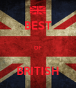 BEST  OF  BRITISH - Personalised Poster large