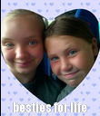besties for life - Personalised Poster large