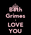 Beth Grimes I LOVE YOU - Personalised Poster large