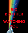 BIG BROTHER IS WATCHING YOU - Personalised Poster large