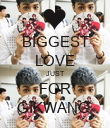 BIGGEST LOVE JUST FOR GIKWANG  - Personalised Poster large