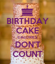 BIRTHDAY CAKE CALORIES DON'T COUNT - Personalised Poster large