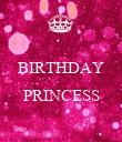 BIRTHDAY  PRINCESS  - Personalised Poster large