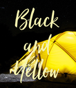 Black and Yellow - Personalised Poster large