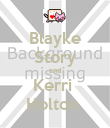 Blayke Story and Kerri  Holton  - Personalised Poster large