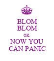 BLOM BLOM OK  NOW YOU CAN PANIC - Personalised Poster large