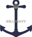 #BLUENAVY   - Personalised Poster large