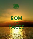 BOM DIA FACES  - Personalised Poster large