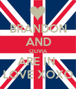 BRANDON AND OLIVIA ARE IN  LOVE XOXO - Personalised Poster large