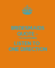 """BRIDESMAIDS QUOTE - """" ITS HAPPENING,  LISTEN TO  ONE DIRECTION - Personalised Poster large"""