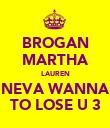 BROGAN MARTHA LAUREN NEVA WANNA TO LOSE U 3 - Personalised Poster large