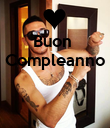 Buon  Compleanno    - Personalised Poster large
