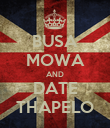 BUSA MOWA AND DATE THAPELO - Personalised Poster large
