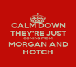 CALM DOWN THEY'RE JUST COMING FROM MORGAN AND HOTCH - Personalised Poster large