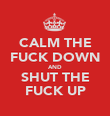 CALM THE FUCK DOWN AND SHUT THE FUCK UP - Personalised Poster large