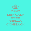 CAN'T KEEP CALM cause it's SHINee's COMEBACK - Personalised Poster large