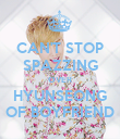 CAN'T STOP SPAZZING OVER HYUNSEONG OF BOYFRIEND - Personalised Poster large