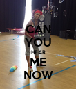 CAN YOU HEAR ME NOW - Personalised Poster large