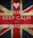 CAN'T KEEP CALM IT'S ONE DIRECTION  - Personalised Poster large