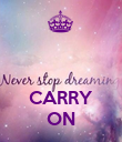 CARRY ON - Personalised Poster large