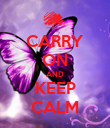 CARRY ON AND KEEP CALM - Personalised Poster large