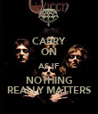 CARRY ON AS IF NOTHING REALLY MATTERS - Personalised Poster large