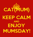 CAT(MUM) KEEP CALM AND ENJOY MUMSDAY! - Personalised Poster large