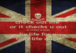 check out life  or it checks u out  in other words  liv life for u only life once - Personalised Poster large