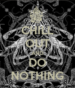 CHILL OUT AND DO NOTHING - Personalised Poster large