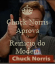 Chuck Norris Aprova O Reinicio do Modem - Personalised Large Wall Decal