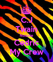 C.J Twain Noodle Cedric My Crew - Personalised Poster large
