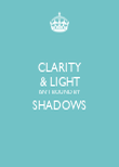 CLARITY & LIGHT ISN'T BOUND BY SHADOWS  - Personalised Poster large