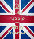 cole rubbie AND missy forever - Personalised Poster small