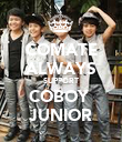 COMATE ALWAYS SUPPORT COBOY  JUNIOR - Personalised Poster large