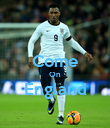 Come On England  - Personalised Poster large
