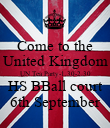 Come to the United Kingdom UN Tea Party-1.30-2.30 HS BBall court 6th September - Personalised Poster large