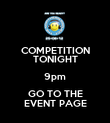 COMPETITION TONIGHT 9pm GO TO THE EVENT PAGE - Personalised Poster large