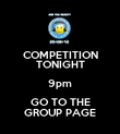 COMPETITION TONIGHT 9pm GO TO THE GROUP PAGE - Personalised Poster large