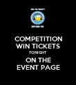 COMPETITION WIN TICKETS TONIGHT ON THE EVENT PAGE - Personalised Poster large