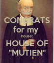 """CONGRATS for my  house: HOUSE OF """"MUTIEN"""" - Personalised Poster large"""