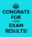 CONGRATS FOR YOUR EXAM RESULTS! - Personalised Poster large