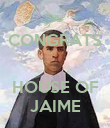 CONGRATS   HOUSE OF JAIME - Personalised Poster large